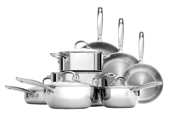 OXO stainless steel cookware makes for an affordable alternative to the big-name stuff.
