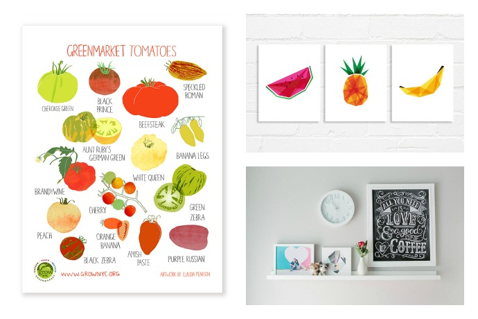 Affordable Kitchen Art Prints To Make Your Kitchen Pretty.