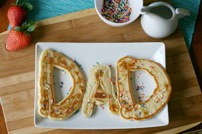 DAD pancakes for Father's Day breakfast | Betty Crocker