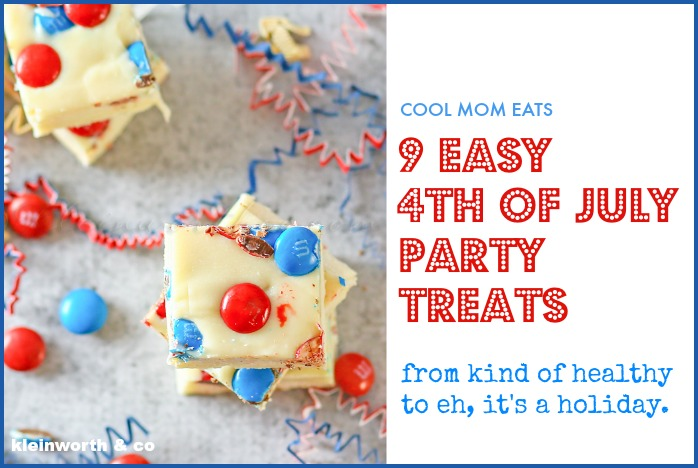 9 fun, easy, no-bake 4th of July party treats. From kind of healthy to kind of not healthy at all.