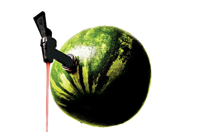 How to turn a watermelon into a keg. Because, we need this.