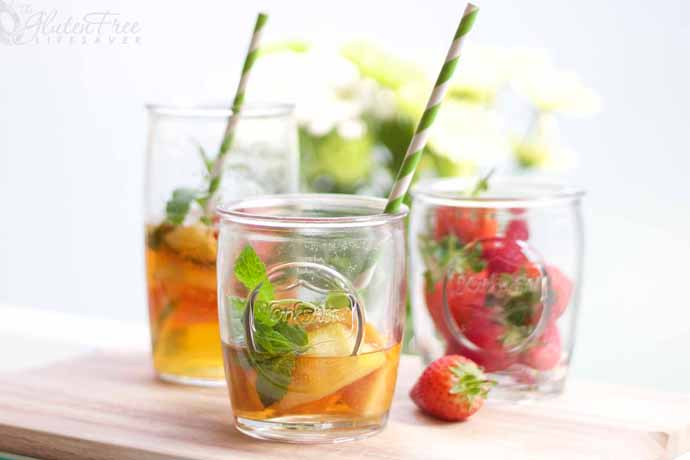 Weekend Toast: A Pimm's Cup with alcohol and one without to drink in the tastes of summer.