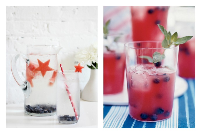 A red, white, and blue cocktail and mocktail to raise a glass to the 4th of July.