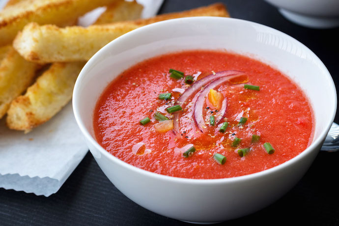 Cold gazpacho on a hot summer day? Yes, please.