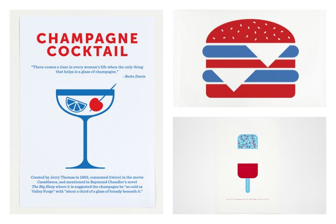 Cool kitchen poster art and accessories for foodies with a taste for graphic design.