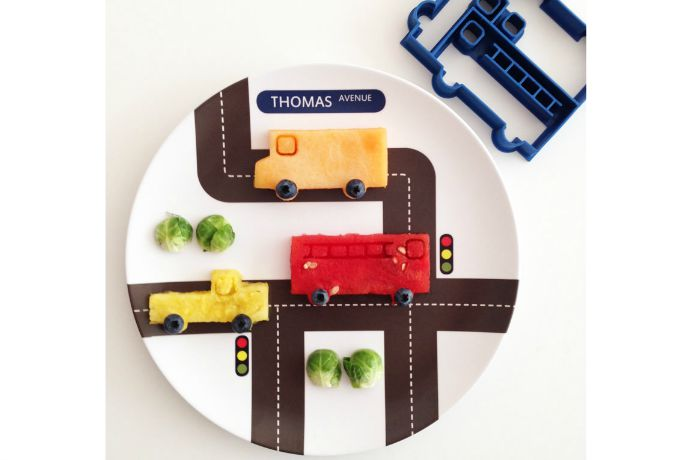 Personalized plates for kids that make playing with food perfectly acceptable