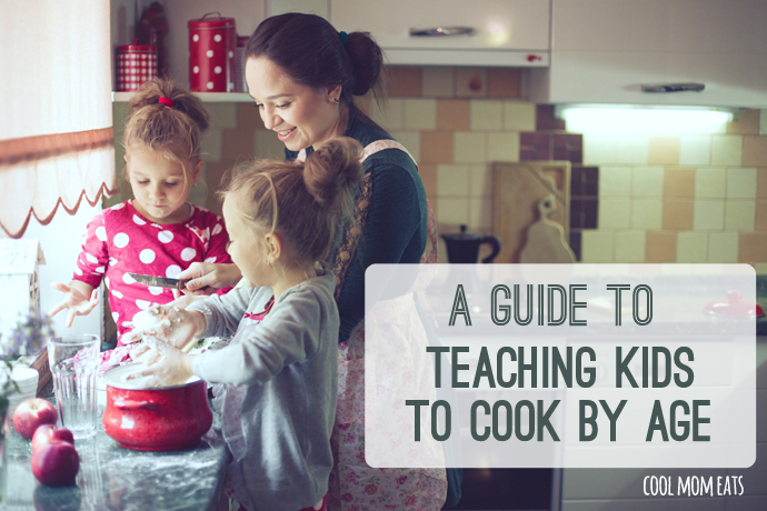 Getting kids in the kitchen: A helpful guide to teaching kids cooking skills by age.