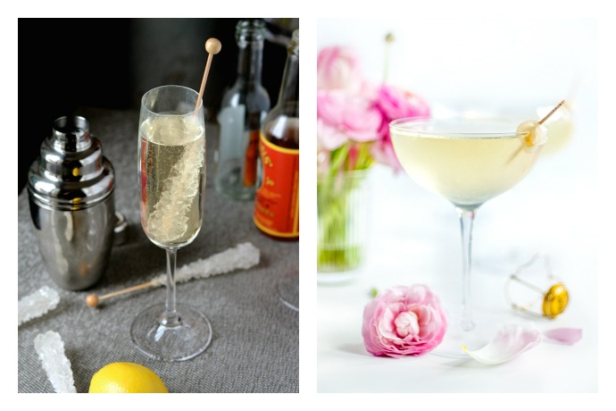 A French 75 cocktail and mocktail to kick off the holiday eating and drinking season.