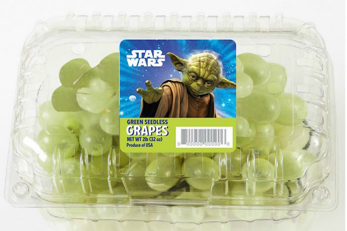 If you can't get your kids to eat their fruits and veggies, maybe Yoda can.