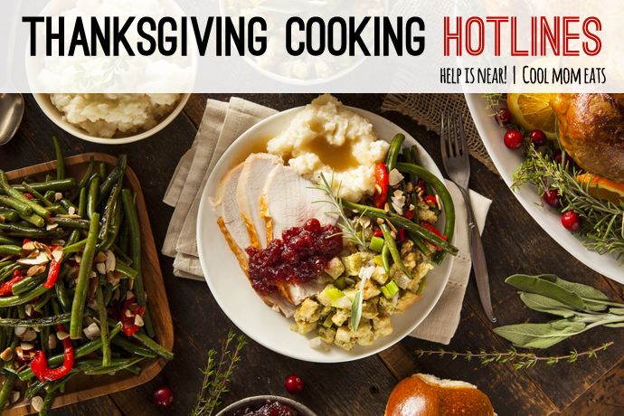 The great list of Thanksgiving cooking hotlines to save your Turkey Day.