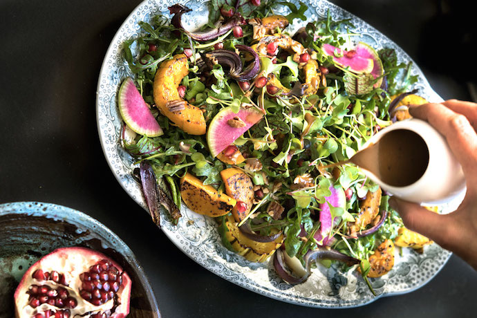 Colorful fall salads to brighten your Thanksgiving table or really, any table.