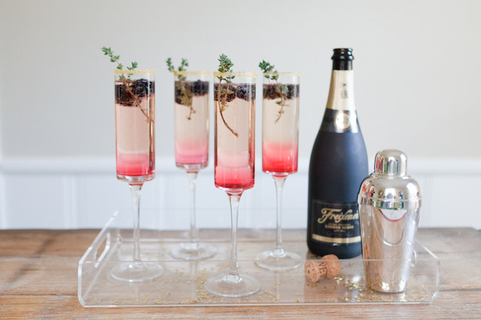 Champagne cocktails for New Year's Eve, whether you toast at midnight or 7 pm.