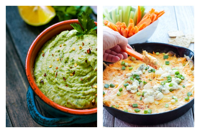 Skinny snack dips… so that you can eat more chips, of course.