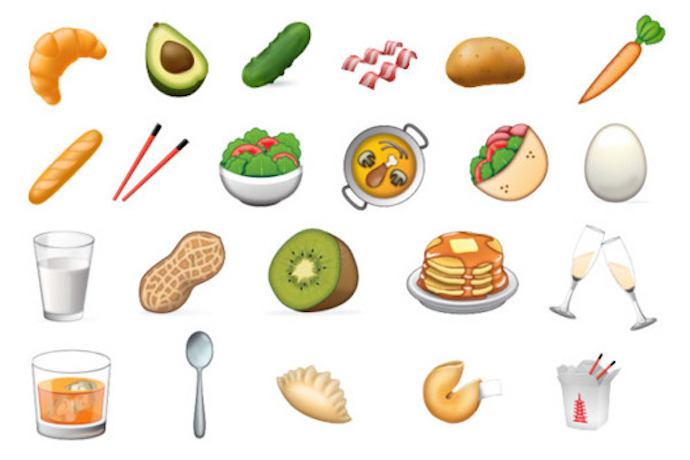 Web Coolness: New food emojis (yay!), last-minute Valentine's Day treats, and Beyoncé's hot sauce bag.