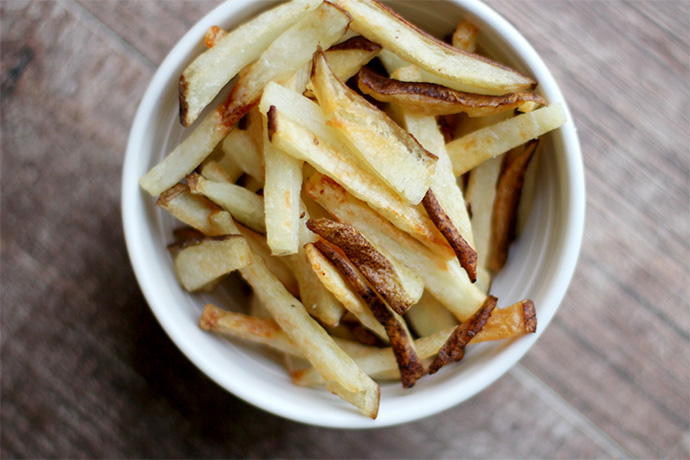 How to make homemade freezer french fries so you can have gourmet fries whenever.