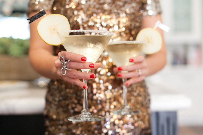 Oscar Party French Pear Martini Cocktail | Style Me Pretty