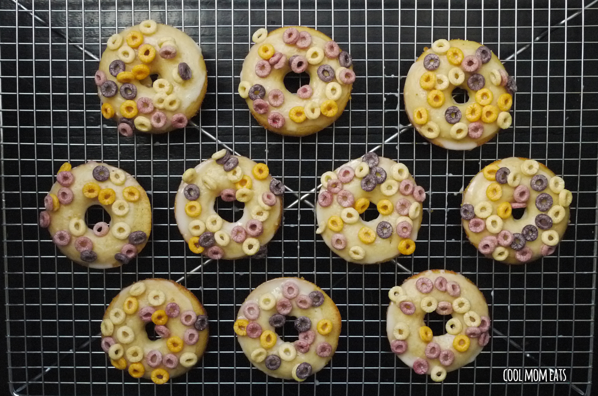 Baked Cereal Milk Donuts. Because cereal milk. And donuts.