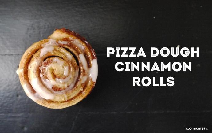 Busy parent kitchen hack: Shortcut Pizza Dough Cinnamon Rolls