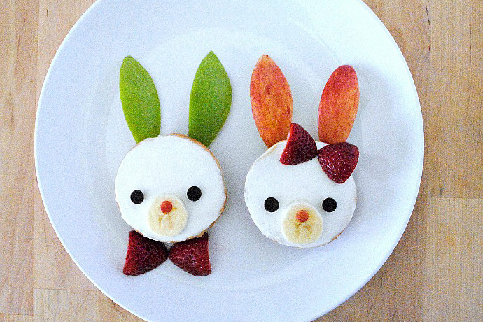 Bunny bagels, Peeps S'mores, and other easy Easter treats to make with your kids.