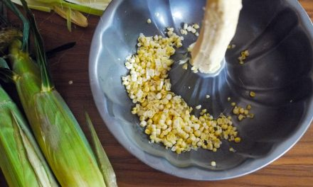 The best mess-free way to cut corn off the cob.
