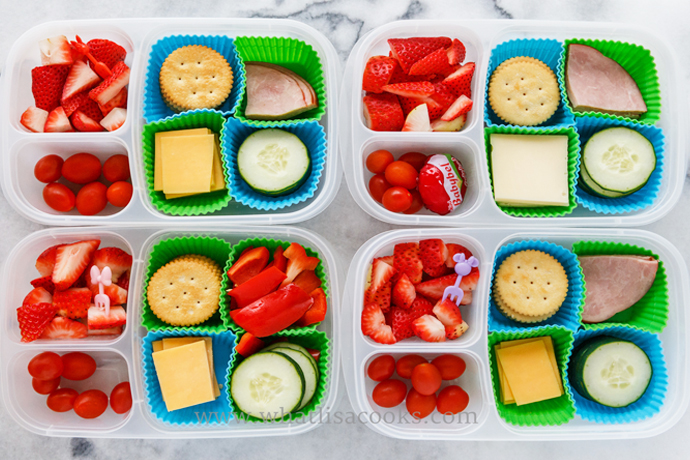 We're all about DIY Lunchables like this one from What Lisa Cooks for healthier, cheaper and more eco-friendly school lunch ideas. Check them all out! | Cool Mom Eats