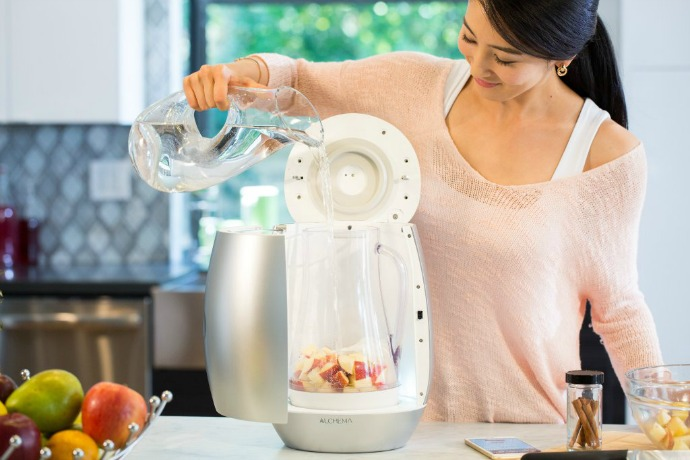 The ALCHEMA turns your fruit into booze. It's like a juicer, with benefits.