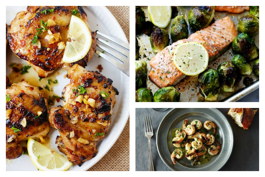7 recipes that use only lemon, garlic, and olive oil to cook up big flavor fast.