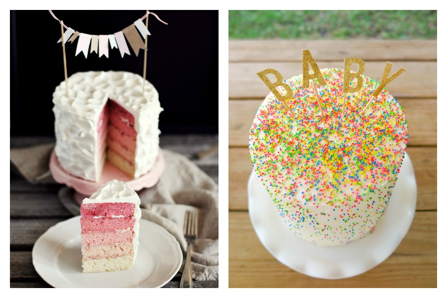 9 cool, modern gender reveal cakes that use just enough pink and blue to get the point across.