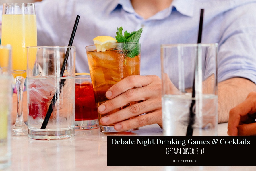 Debate night drinking game. Because debate night. And drinking.