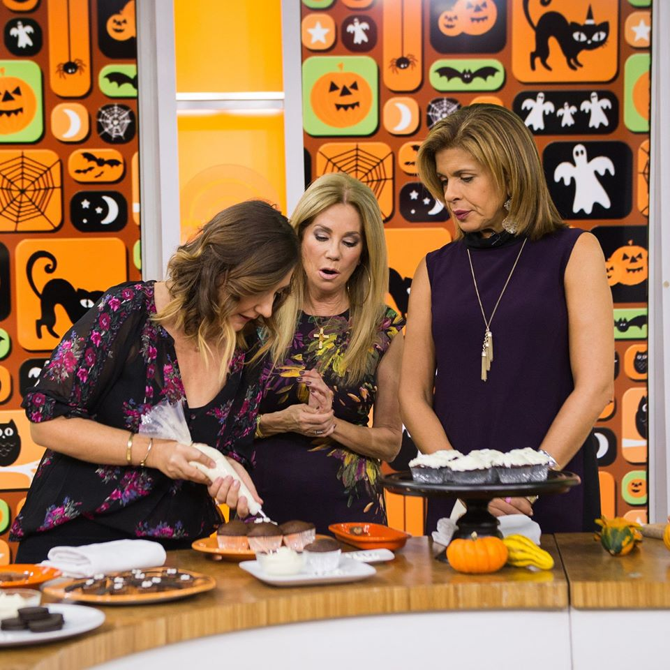 Stacie Billis of coolmomeats.com making Halloween treats for Hoda + Kathie Lee on TODAY!