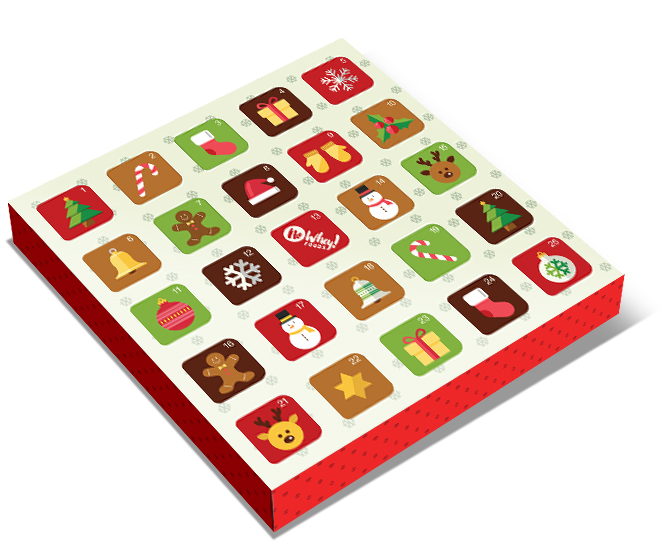 No Whey Foods offers a cute advent calendar free of all major allergens. It's vegan too!