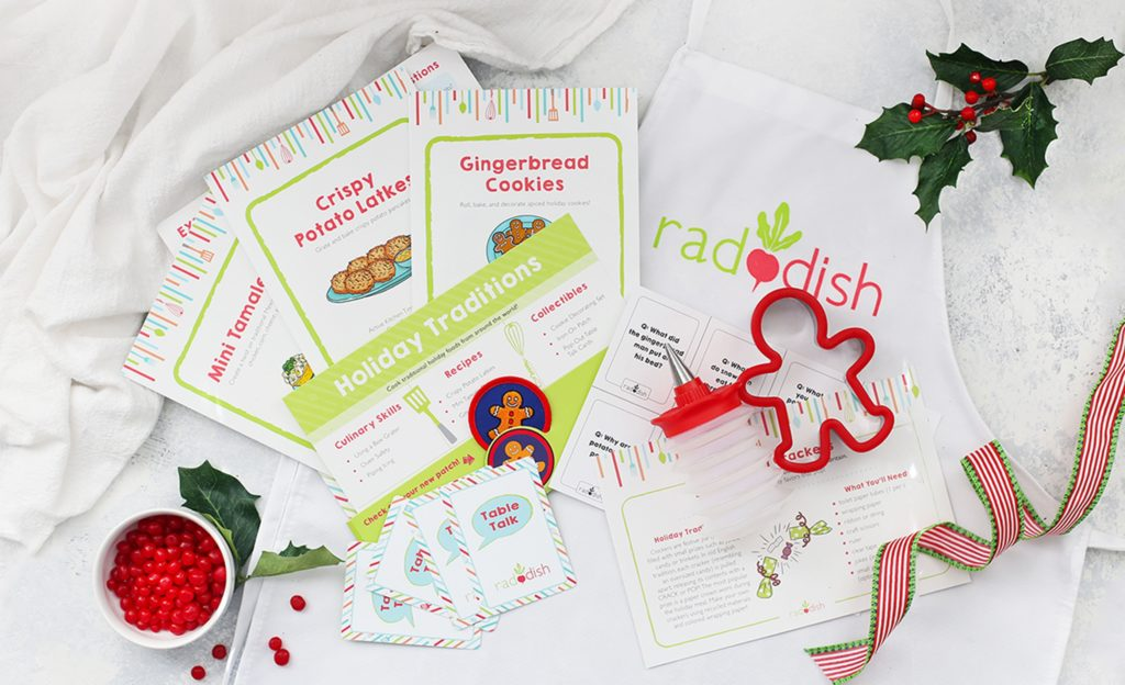 Raddish Kids culinary box subscription gift gets kids cooking and learning