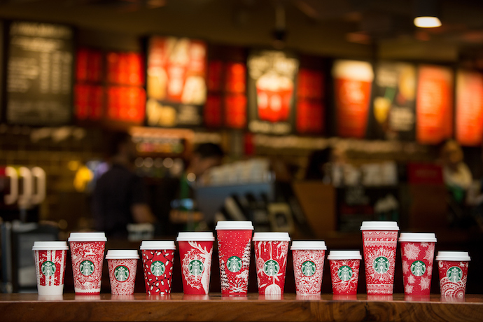 Web Coolness: The new Starbucks holiday cups, a single-serving cookie recipe, and bath powder that smells like ramen.