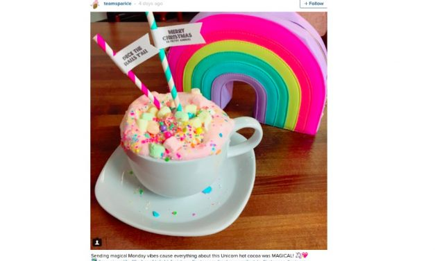 Web Coolness: Pink unicorn hot chocolate, Santa deviled eggs, and the most brilliant fridge hack ever.
