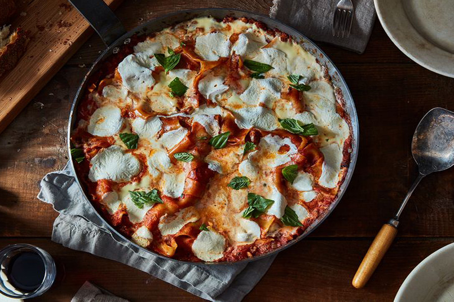 A quick and easy Lasagna - it's true! This One Pan Lasagna from the Keepers cookbook at Food52 may be on every Cool Mom Eats weekly meal plan!