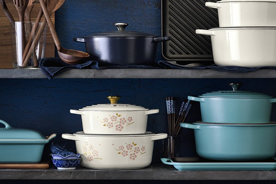 Cherry blossoms are blooming early this year, thanks to Le Creuset.
