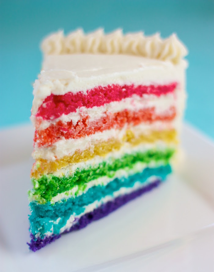 Allergen-free food blogs: Rainbow Surprise Cake by Speedbump Kitchen