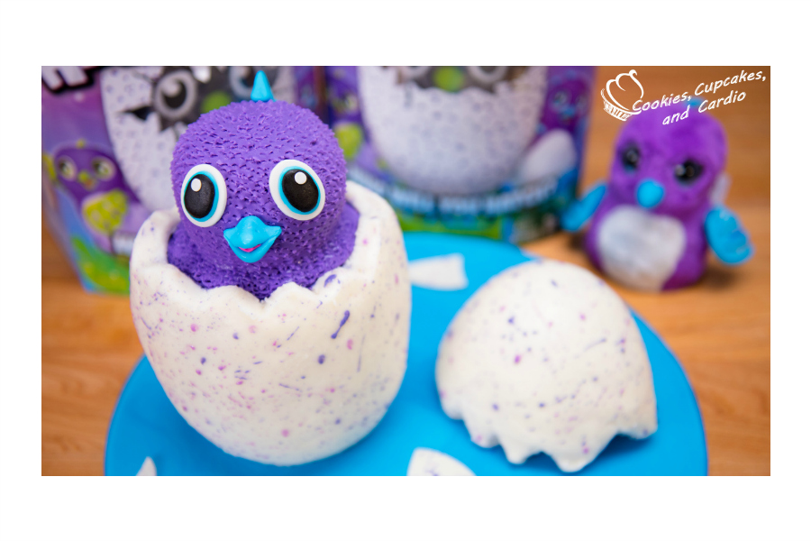 A Hatchimals cake. Because… well, you know exactly why.
