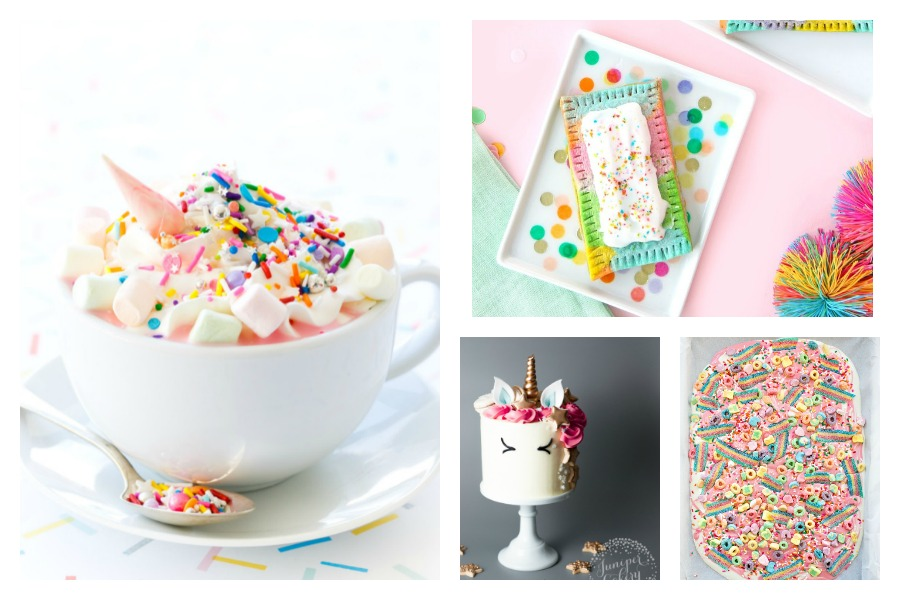 12 easy unicorn party treats that don't require magical kitchen skills.