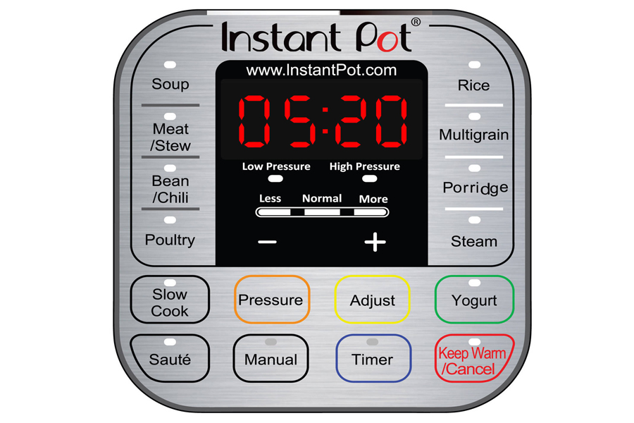 A quick guide to the buttons on your Instant Pot.