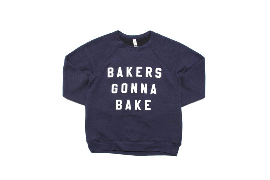 "We found it: The ""Bakers Gonna Bake"" sweatshirt that Martha and Snoop Dogg wore for their Super Bowl commercial debut!"