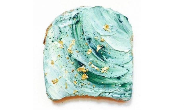 Mermaid toast is here, and it's amazing | vibrantandpure on Instagram