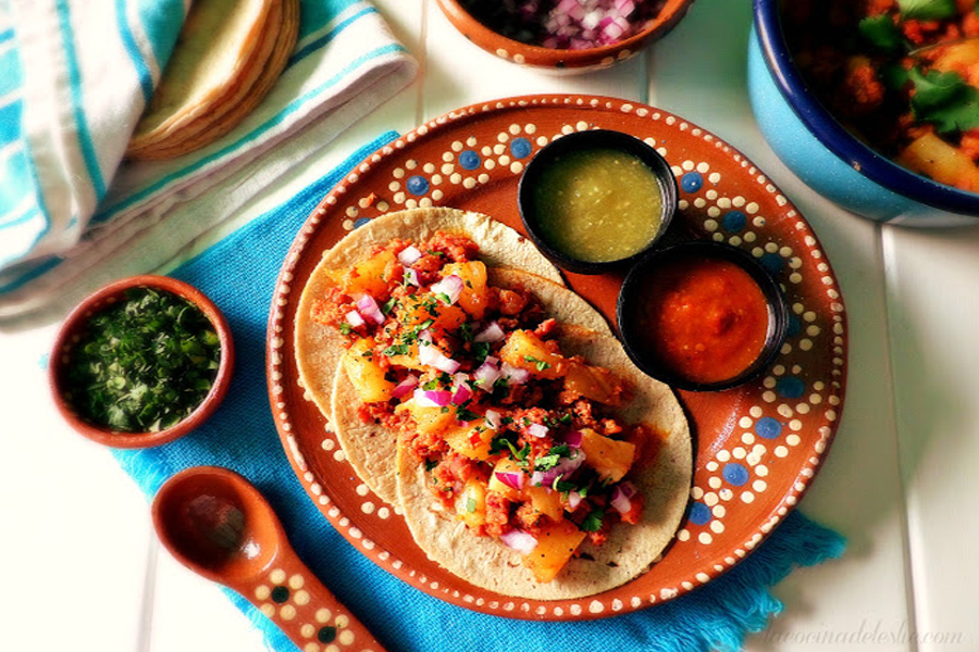 Next week's meal plan: 5 easy recipes for the week ahead, from simple sweet, salty, spicy tacos to a loaded Thai Steak Salad.