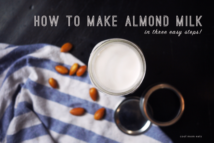 How to make homemade almond milk in three easy steps.