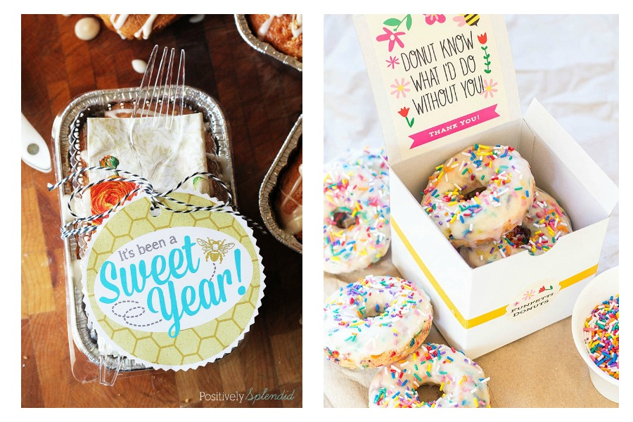 11 of the best Teacher Appreciation Day printables for tasty food gifts.