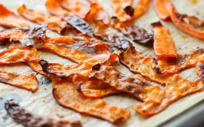 We tried Baked Smoky Carrot Bacon – an attempt at learning how to make carrot bacon. | One Green Planet