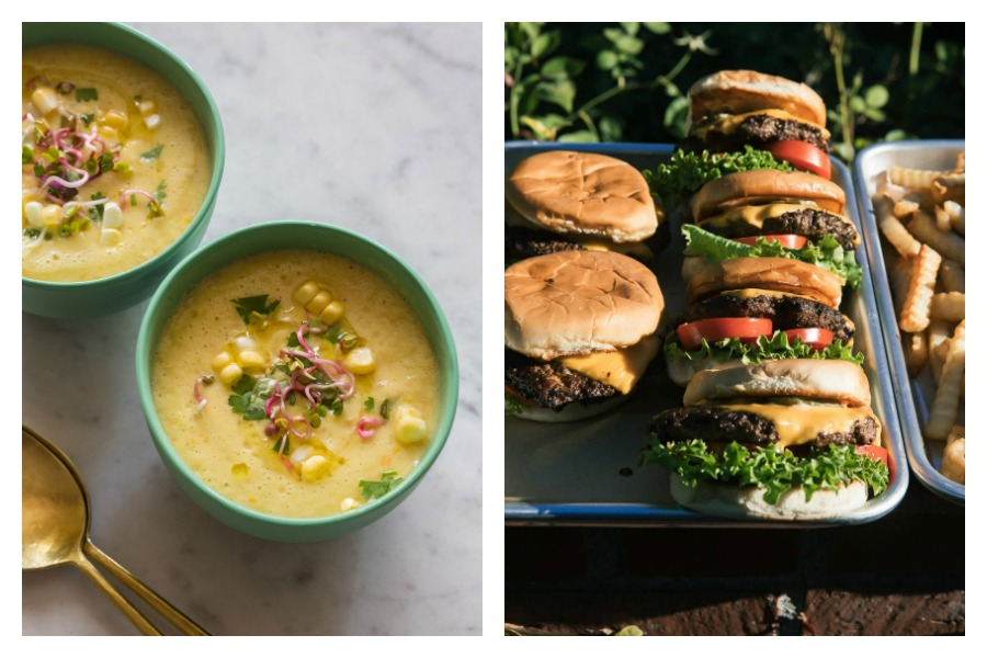 Next week's meal plan: 5 easy recipes for the week ahead, from a perfect corn gazpacho to copycat Shake Shack burgers.