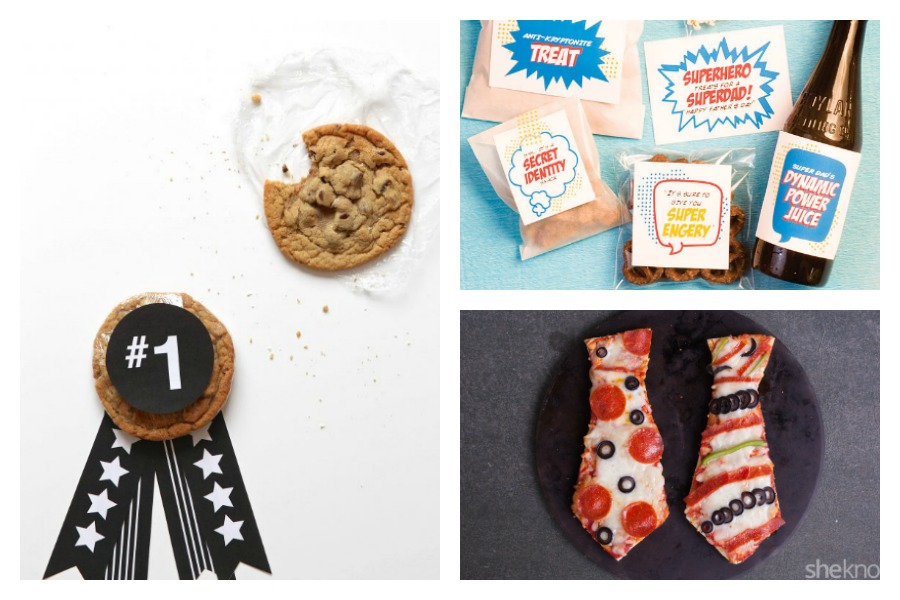 10 Father's Day food gifts the kids can help make: From a simple superdad lunch to an easy cookie medal for your #1 dad.