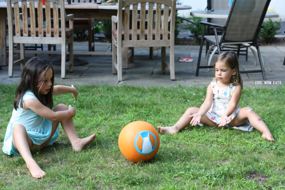 An Ice Cream Ball is the perfect outdoor activity to keep the kids engaged and having fun.   © Jane Sweeney for Cool Mom Eats