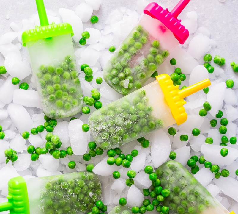 Low sugar teething snacks: Pea Pops | Weelicious